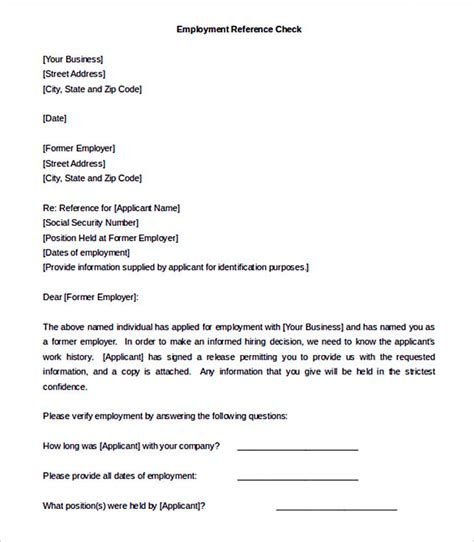Employee Reference Letter Template Free Reference Letter Template Details You Should Include When