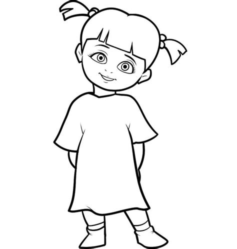 monsters inc coloring pages online little boo character monster inc coloring pages monster