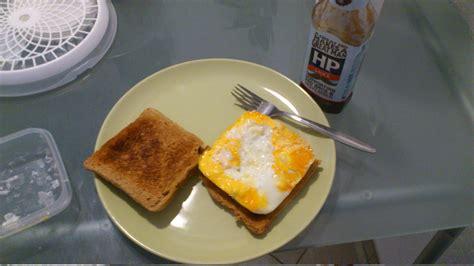 gambarcara mudah menyediakan sandwic telur goreng