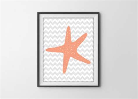 starfish bathroom decor starfish bathroom decor chevron starfish art print