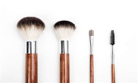Makeup Brush brown and silver makeup brush set 183 free stock photo