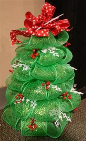 geo mesh deco mesh ribbon tree project christmas tree