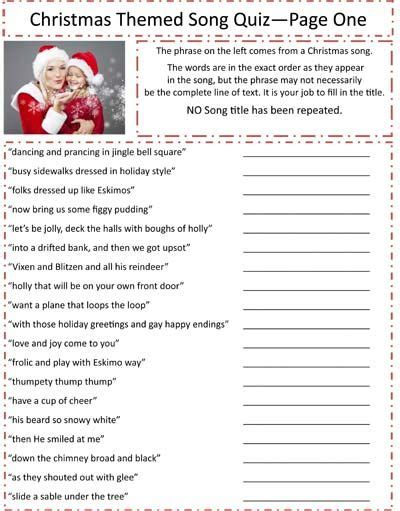 printable christmas games and quizzes printable christmas trivia questions answers printable
