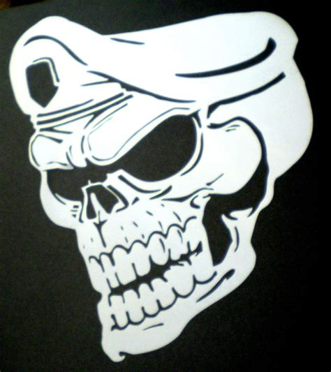 high detail airbrush stencil army skull free uk postage ebay