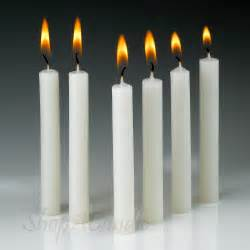 White Candles White Taper Candles 4 Inch Taper Candles Shop At Shopacandle