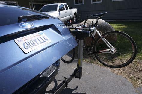 best swing away bike rack thule apex swing 4 bike review outdoorgearlab