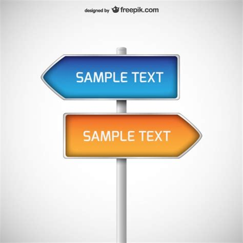 Direction Signposts Vector Free Download Direction Signs Template