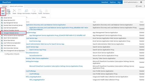 service application which sharepoint service applications services are required for project server 2013