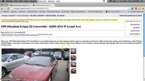 craigslist chicago  cars appliances  furniture