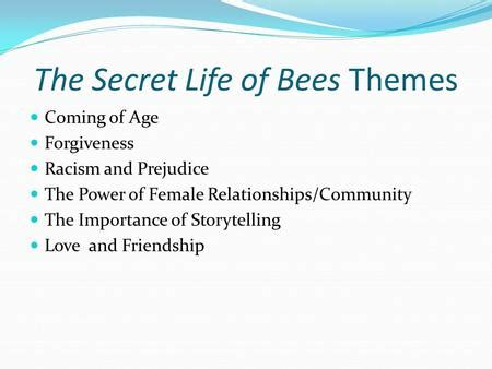 Theme Quotes From The Secret Life Of Bees | anthropomorphic characterization created by kathryn reilly