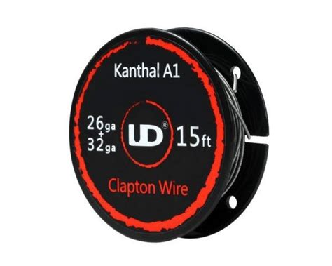 S163 Fused Clapton Kanthal A1 Coil 0 8 Ohm Khantal Kantal Rda Rdta clapton kanthal a1 0 4 and kanthal a1 0 2 by ud clapton wire canada