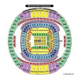Mercedes Superdome Map New Orleans Saints Seating Chart Mercedes Superdome