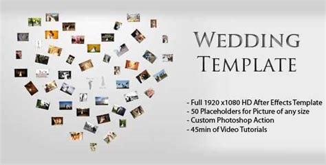 wedding slideshow template 30 sentimental wedding after effects template collection