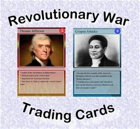 Revolutionary War Trading Cards Template 17 best images about history american revolution on