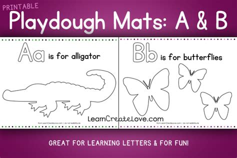 printable alphabet mat printable playdough mats a b