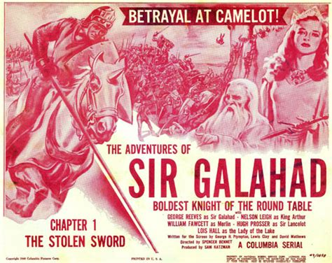 the adventures of sir serial report chapter 76 sir galahad george reeves bradley page frances robinson