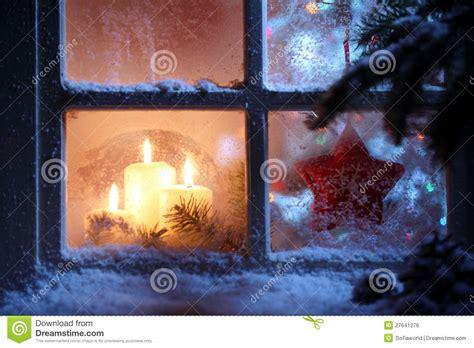 free printable christmas window decorations window with christmas decoration stock photo image 27641276
