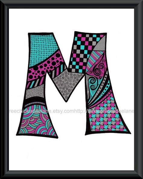 bei doodle name löschen zentangle letter doodling print