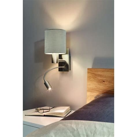 eglo pasteri wall light this is a 1 light wall light complete with a matt taupe shade