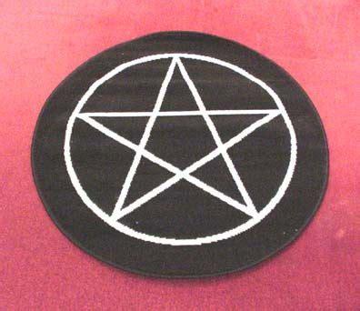 wiccan rug pentacle rug wicca