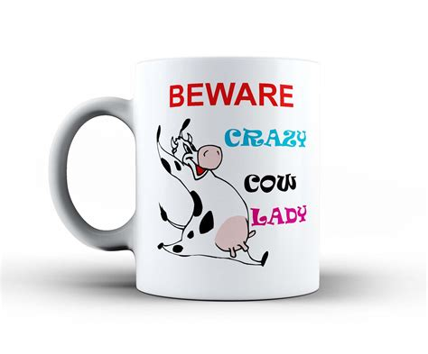 novelty coffee mugs crazy lady woman funny ceramic office coffee tea mug