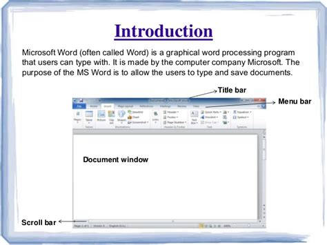 What Is Ms Office Word Microsoft Word Ppt Presentation