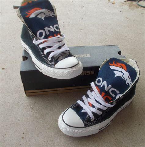 denver broncos shoes denver broncos converse shoes by freestreetshop on etsy