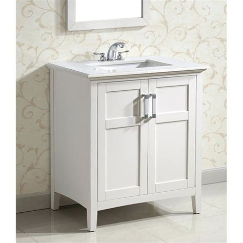 30 Inch White Bathroom Vanity Simpli Home 30 Inch Winston Bath Bathroom Vanity In White Nl Winston Wh 30 2a