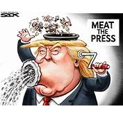 Sack Cartoon Donald Trump And The Media  StarTribunecom