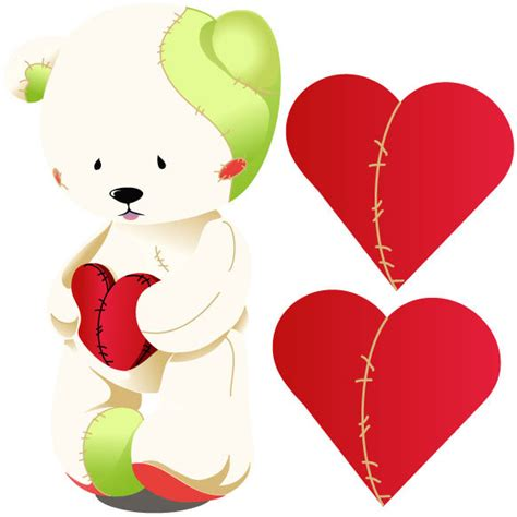 wall stickers hearts teddy bears with hearts clipart best
