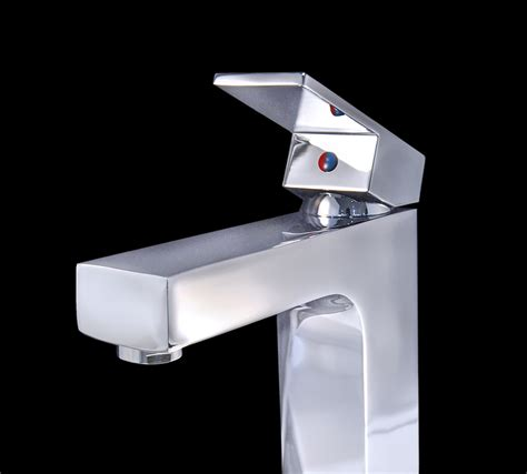 chrome finish modern bathroom faucet