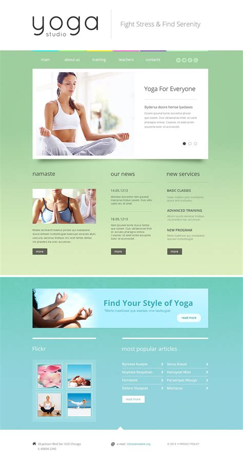 responsive website templates for yoga yoga responsive website template 46553