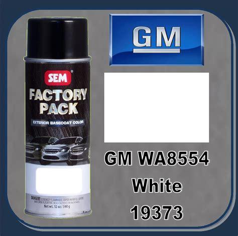 sem 19373 sem factory pack basecoat gm paint code wa8554 quot white quot 16oz aerosol