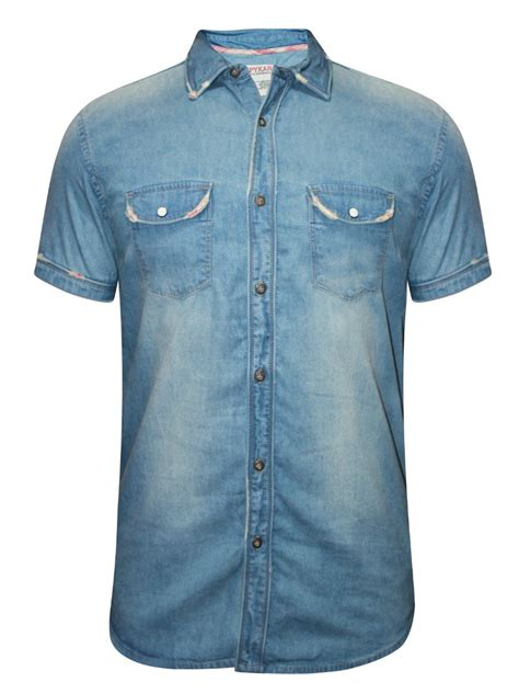 spykar grey half sleeves denim shirt ranger s16 277 blue