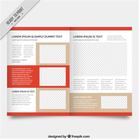 magazine template with red details vector premium download