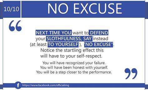 No Excuse no excuse 10