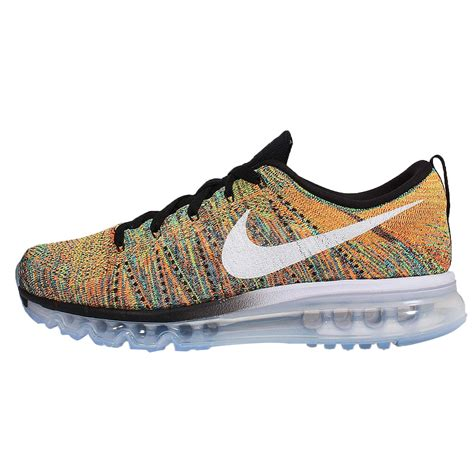 multi colored nike shoes nike flyknit max black orange multi color mens running
