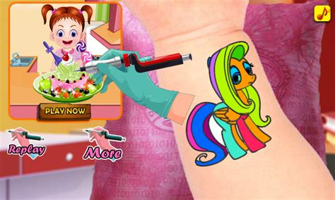 tattoo games for girls free artist coloring baby for apk