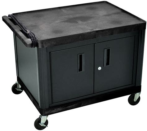 cart with locking cabinet 2 shelf high open a v utility cart with locking cabinet