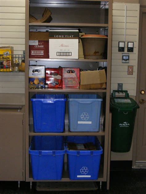 Garage Waste Collection by Recycling And Garbage Bin Storage Nuvo Garage