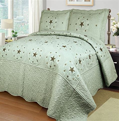sage coverlet mk collection light green sage 3 pc bedspread coverlet
