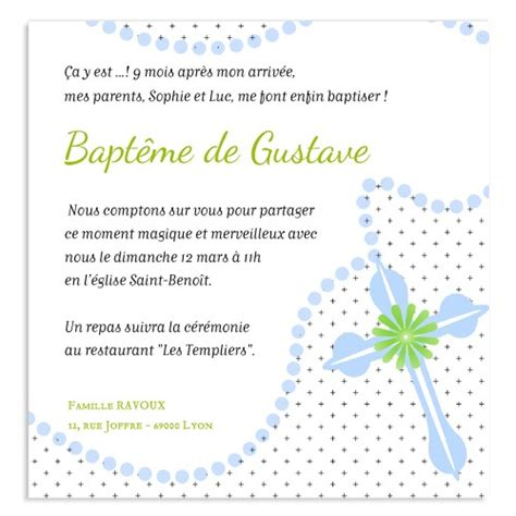 Exemple De Lettre D Invitation Pour Bapteme exemple faire part confirmation