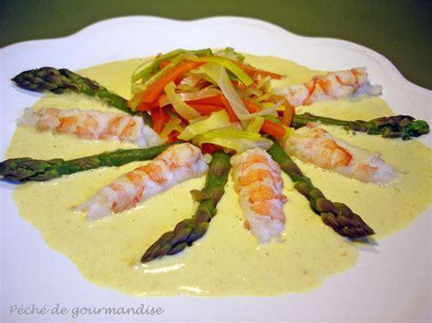 comment cuisiner des langoustines langoustines et asperges vertes sauce curry p 233 ch 233 de