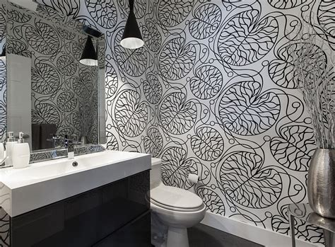 designer bathroom wallpaper bold wallpaper from marimekko adds stunning appeal to the