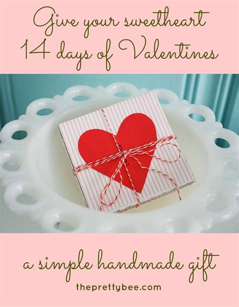 14 days of valentines day for him 25 lovely diy valentine s day cards and gifts diy