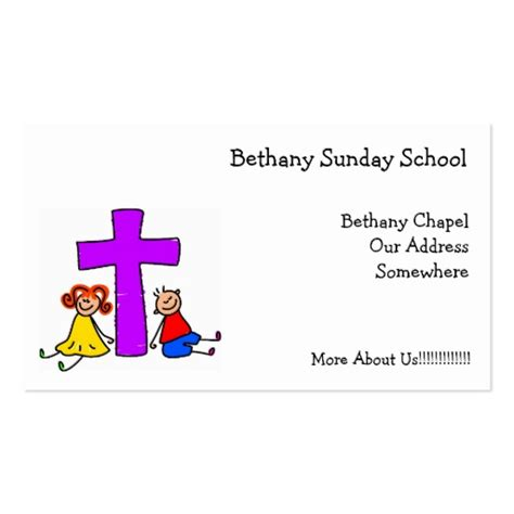 Christian Kids Double Sided Standard Business Cards Pack Of 100 Zazzle Kid Business Card Template