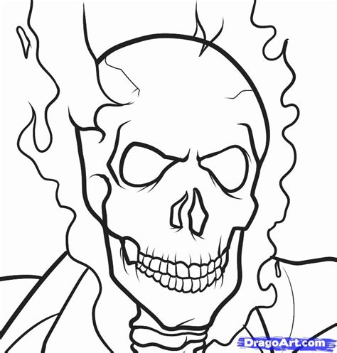How To Draw Ghost Rider Ghost Rider Step By Step Marvel How To A Coloring Pages