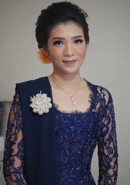 Dress Batik Tenun Jepara Abu Abu kebaya biru dongker inspirasi kebaya vani
