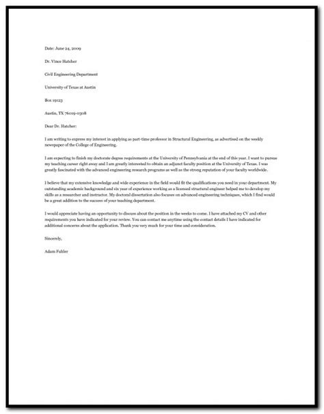 cover letter engineering faculty position cover letter sle for assistant professor in