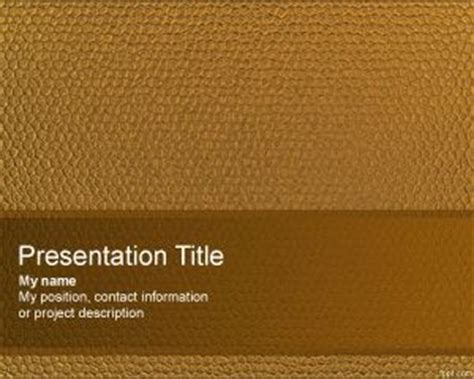 leather templates leather powerpoint template